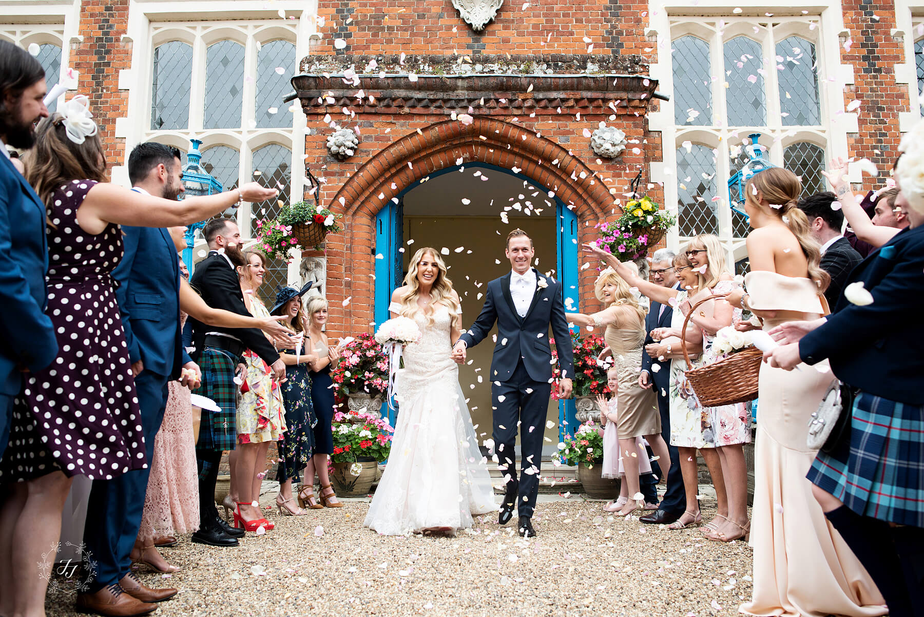 Confetti photograph at Gosfield Hall