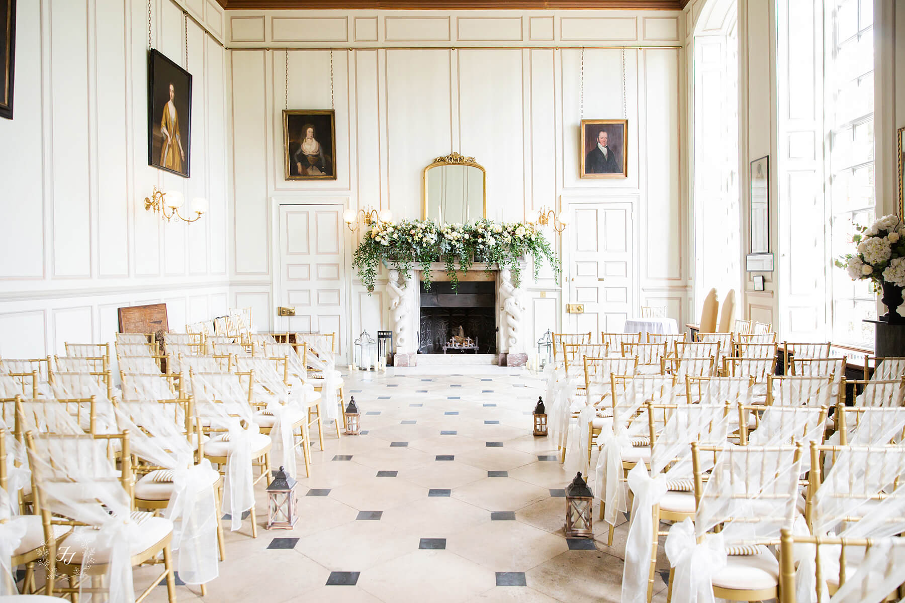 The Ceremony at Gosfield Hall the grand salon