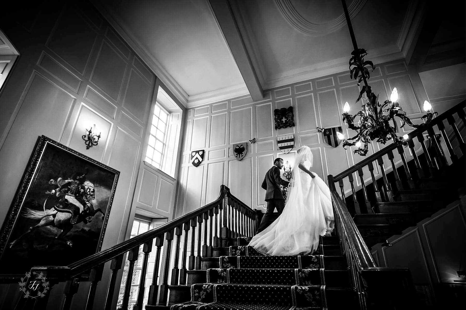 Photograph of Gosfield Hall stairs