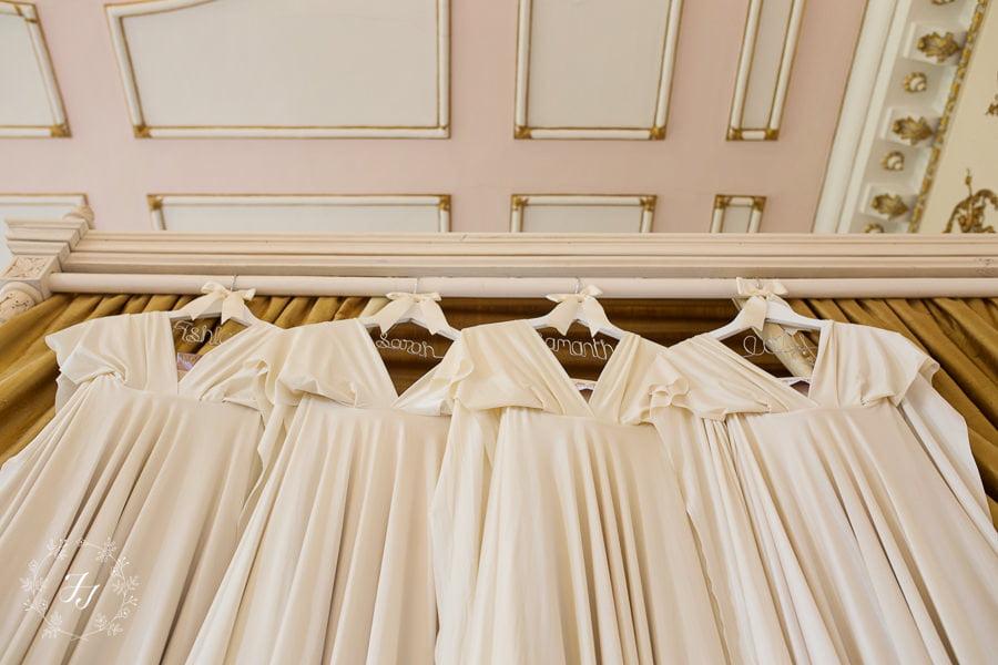 pale gold bridesmaids dress