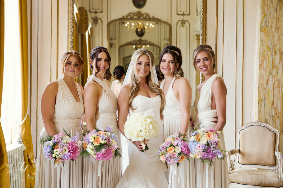 pale yellow bridesmaids at Gosfield Hall