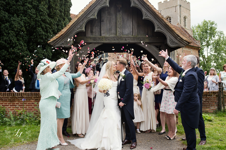 confetti at st catherines church