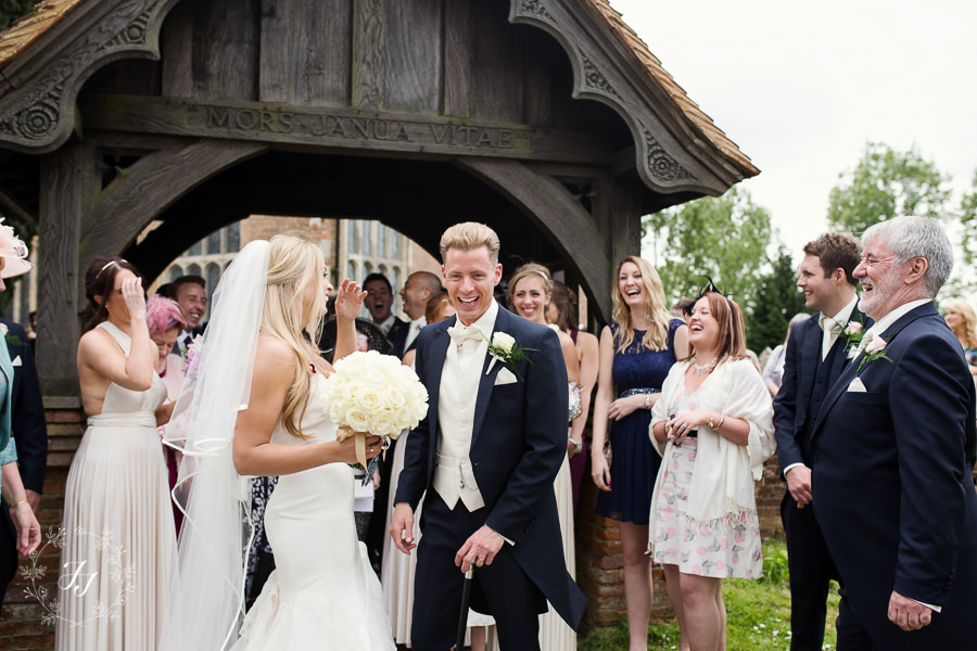 bride and groom laughingstocks at st Catherines church