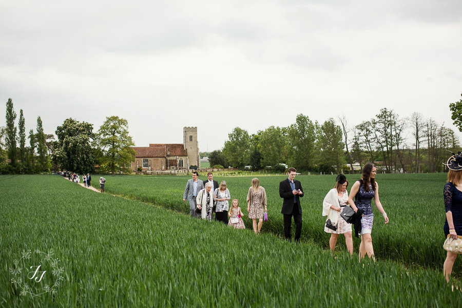 walk to Gosfield Hall from church