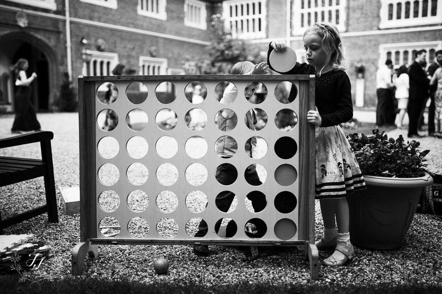 giant connect four at Gosfield Hall