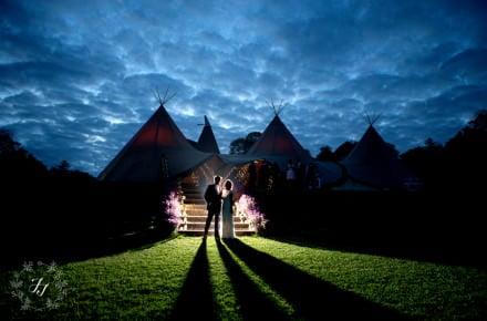 Tipi wedding in Vineyard Kent