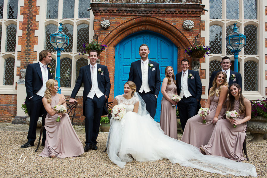 gosfiedl hall wedding photography bridal party