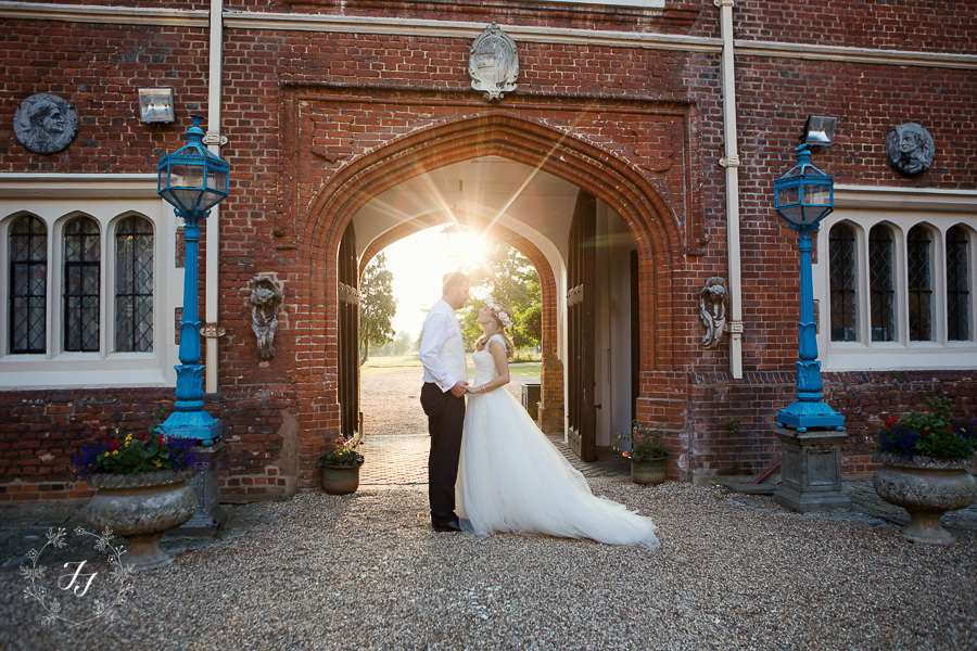 Dusk shot at Gosfield Hall wedding