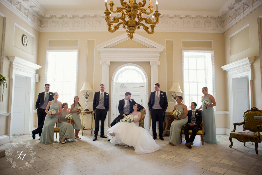 Wedding Photography at Borham House in the lobby