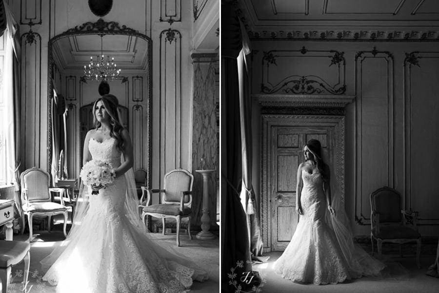 bridal portraits in bridal suite