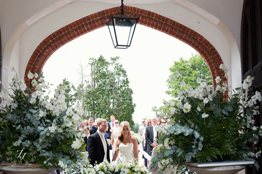 courtyard ceremony at Gosfield Hall