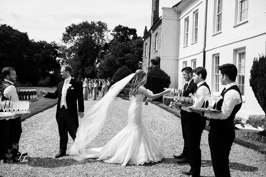 reception drinks at wedding venue