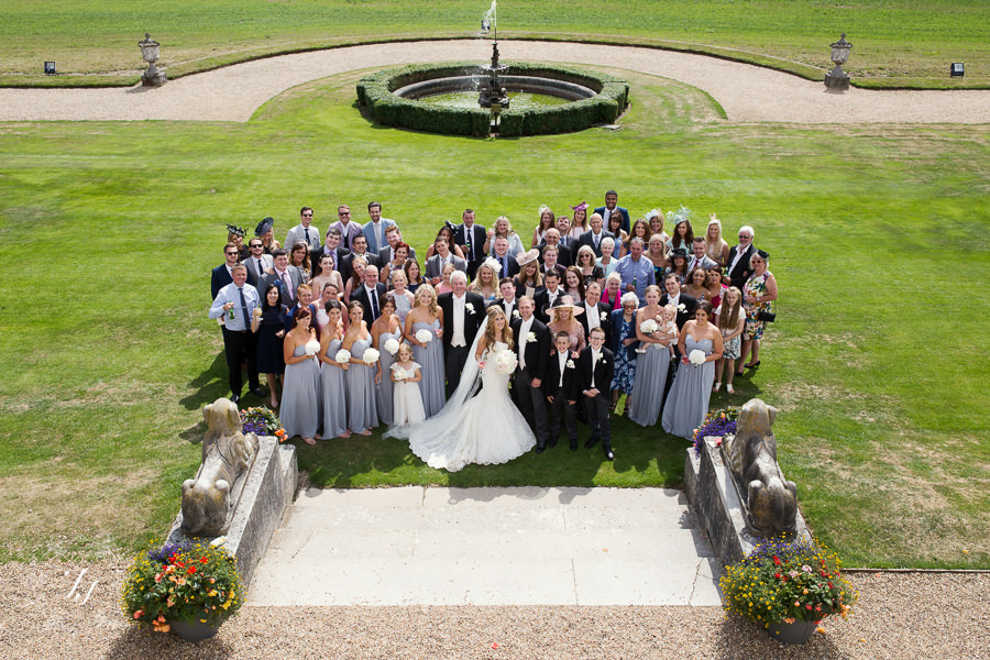 group shot of everyone at Gosfield Hall