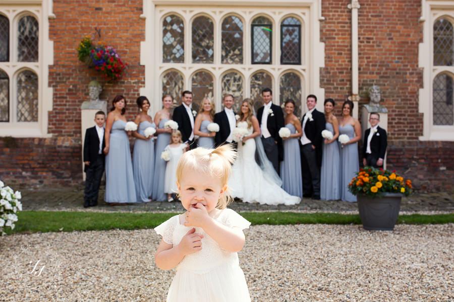 pale blue bridal party
