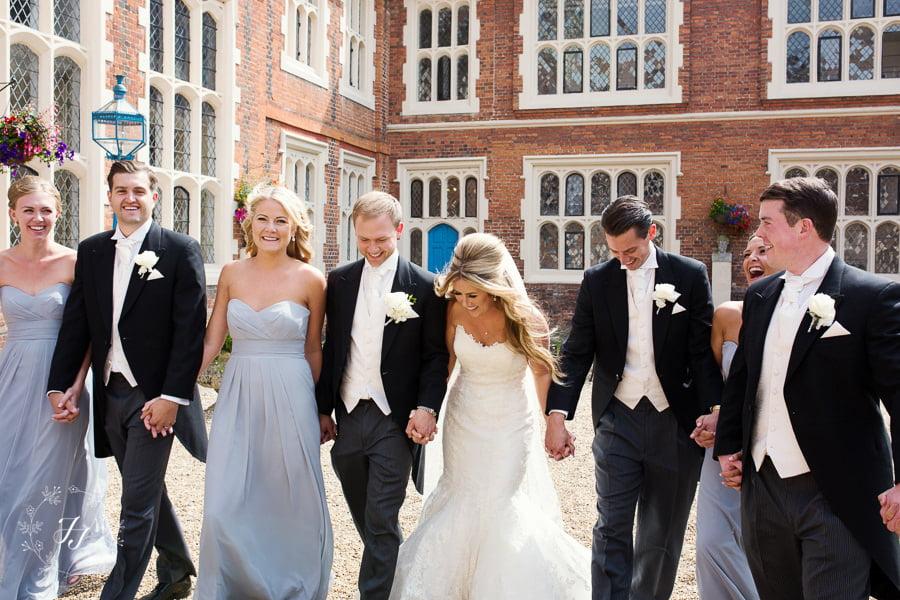 bridal party photograph summer wedding