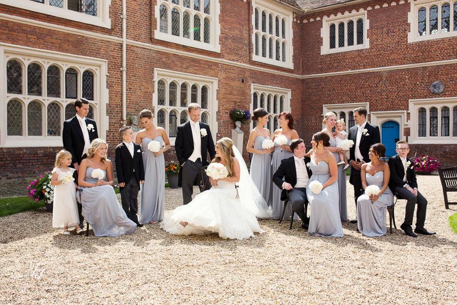 pale blue summer wedding