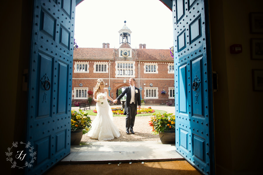 Wedding Photographer at Gosfield hall the courtyard