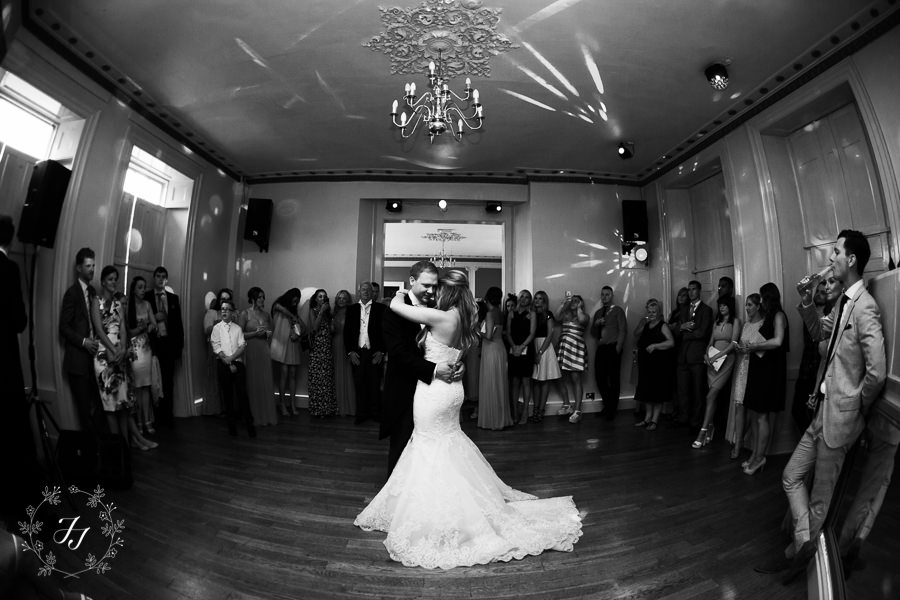 first dance at summer wedding at Gosfield Hall