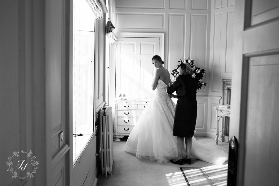 autumn wedding light in the bridal suite at Gosfield Hall