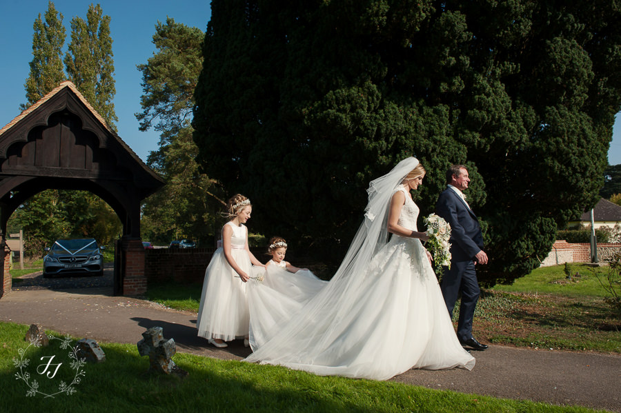 wedding at st Catherines church in Gosfield