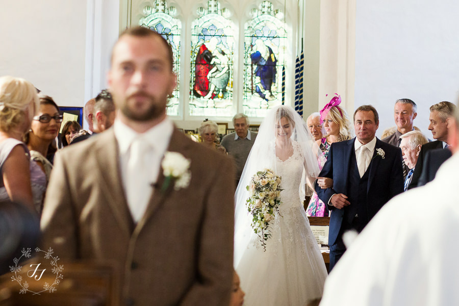 ceremony at st Catherines church in Gosfield village