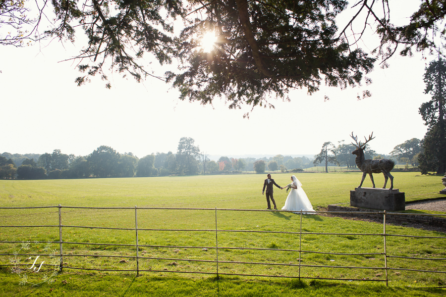 autumn wedding at Gosfield Hall with stag