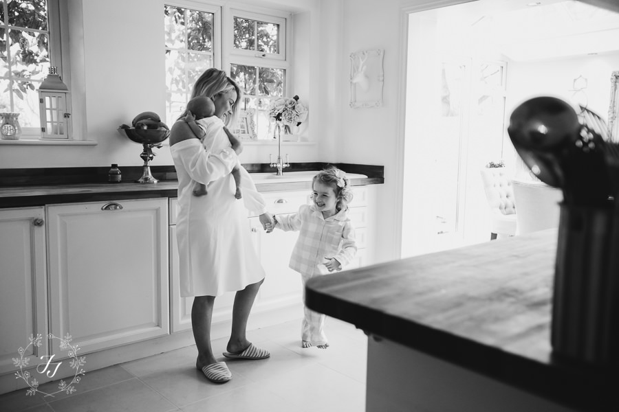 dancing around the kitchen with the Barnards