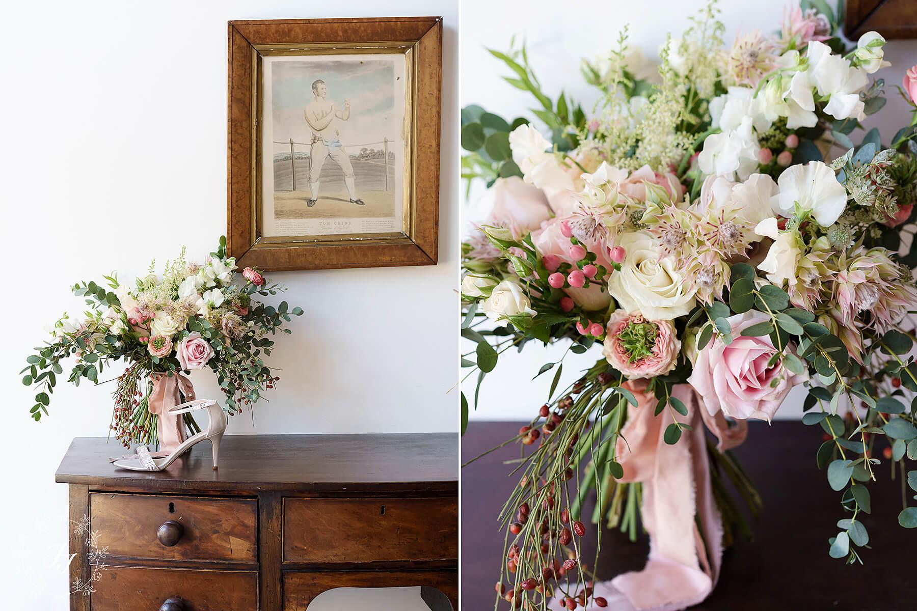 wild rustic vintage modern wedding bouquet
