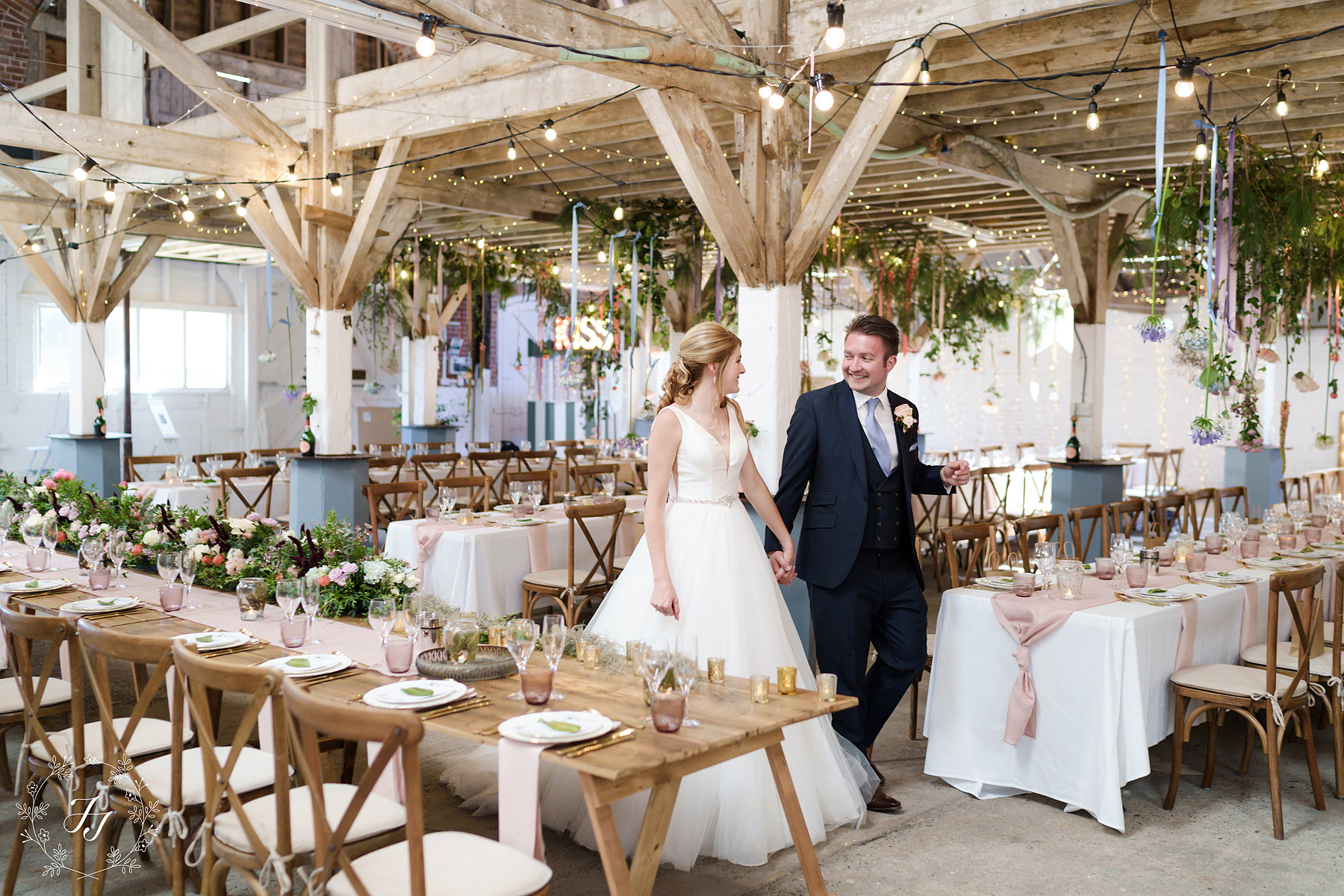 beautiful wedding photography at the railway barn in essex Newhall vineyard