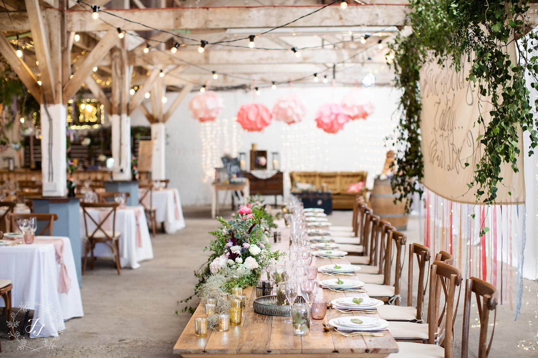 a wedding gin lounge