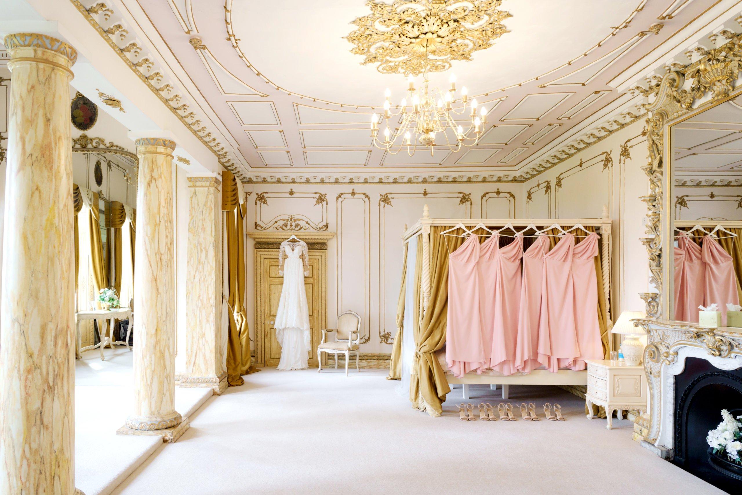 Blush Bridesmaids at Gosfield Hall