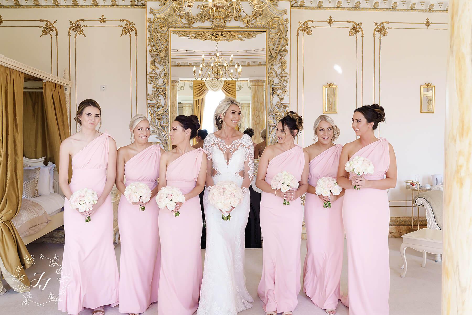 blush pink bridesmaids at Megan and Connors wedding
