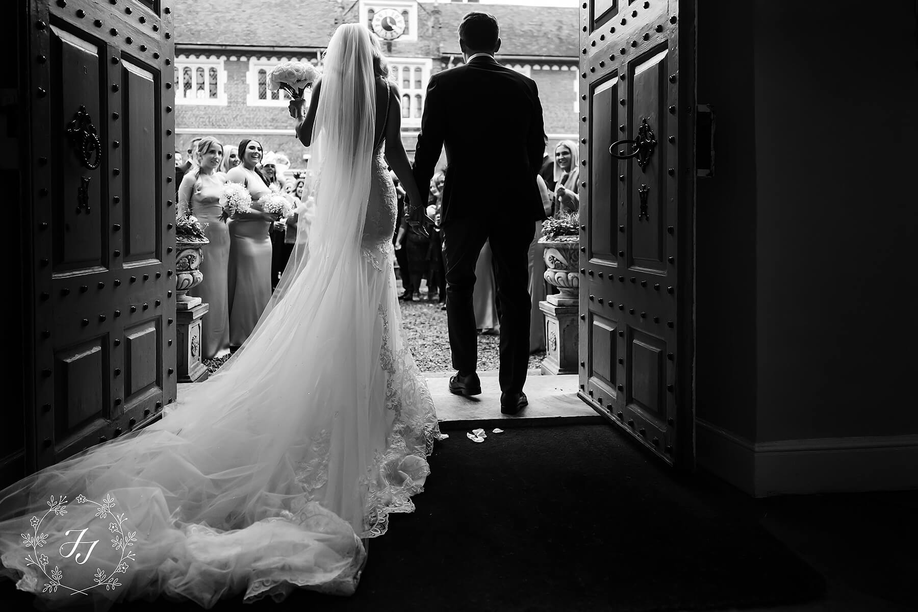 Hollie and tom leaving Gosfield Hall