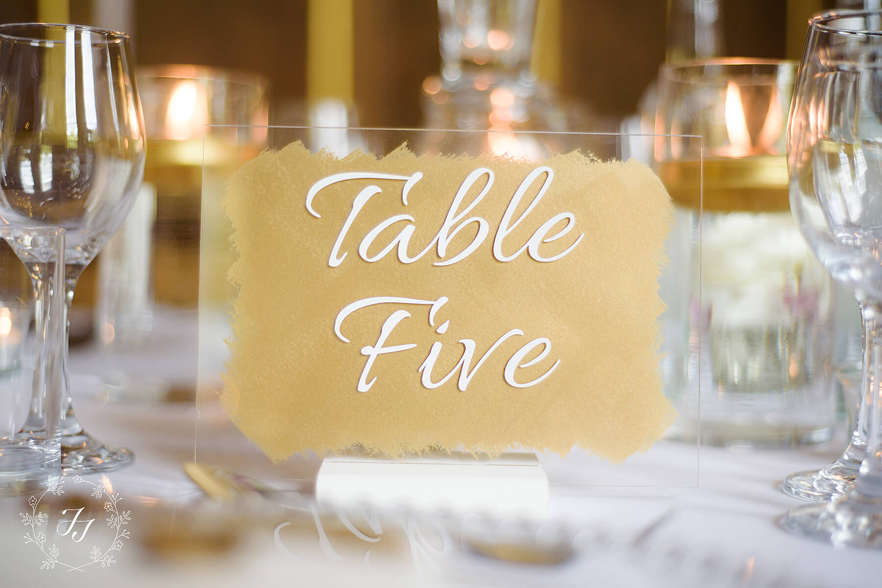 Gold Table name stationery