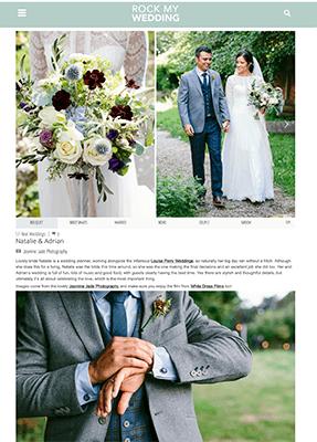 Natalie & Adrian featured on Rock my wedding