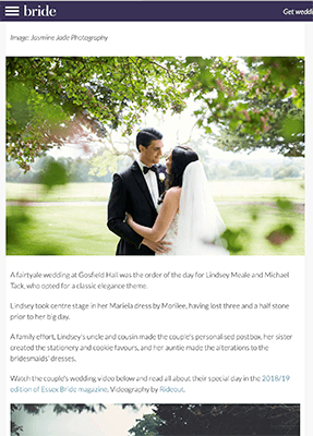 Micheal & Lindsey Gosfield Hall Featured Wedding